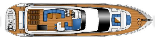 Monte Fino 82 Fly Flybridge Layout Plan