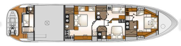 Monte Fino 82 Fly Lower Deck Layout Plan