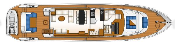 Monte Fino 82 Fly Upper Deck Layout Plan