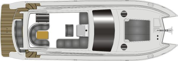 Monte Fino CAT 45 Flybridge Layout Plan