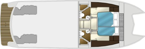 Monte Fino CAT 45 Lower Deck Layout Plan