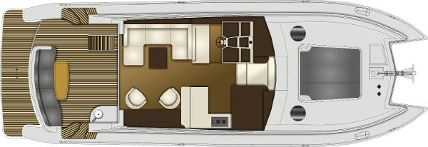 Monte Fino CAT 45 Upper Deck Layout Plan