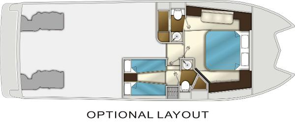 Monte Fino CAT 45 Optional Lower Deck Layout Plan