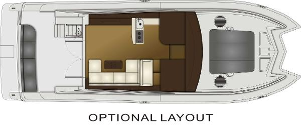 Monte Fino CAT 45 Optional Upper Deck Layout Plan