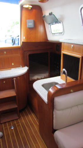 Aft Quarter Berth w/ additional engine access panel