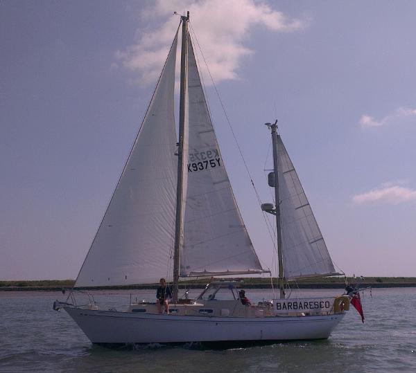 "Barbary 32 Ketch Barbary Ketch ""Barbaresco"" under sail"