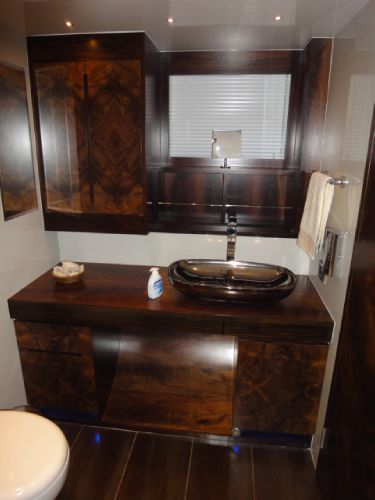 Master cabin bathroom sink