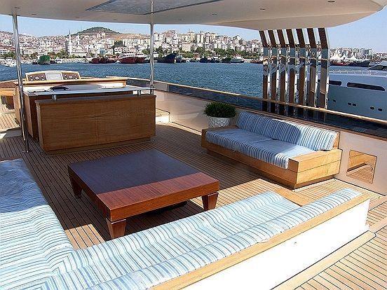 Sun deck lounge