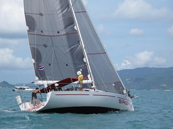Sayer 43 under sail
