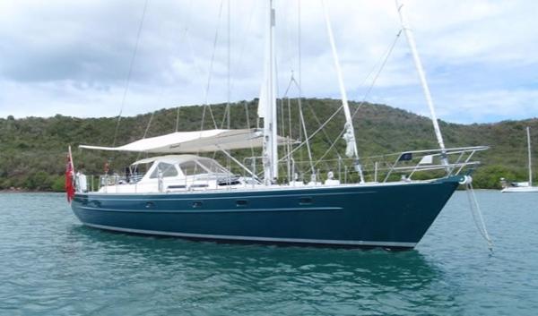 Van Dam Nordia 55 At anchor