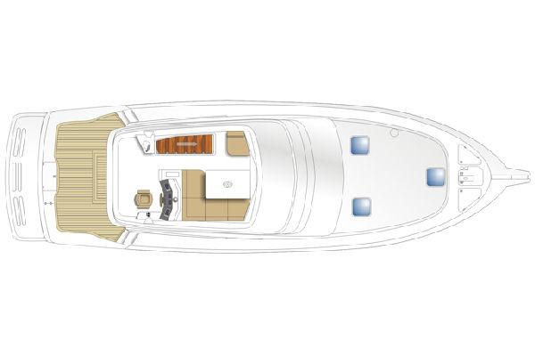 Maritimo 470 Offshore Convertible Flybridge Layout