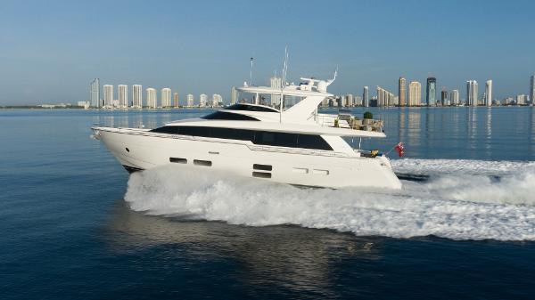 Hatteras M75 Panacera Profile at cruise