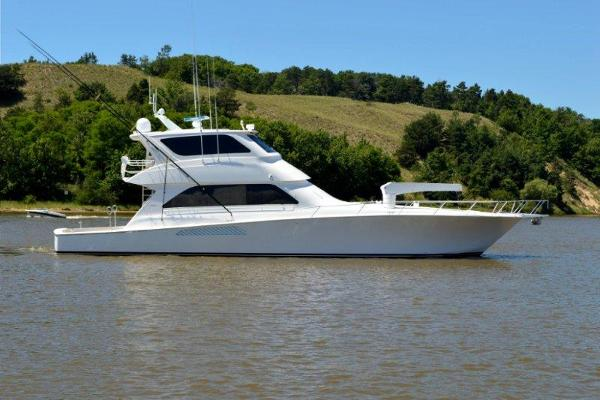 Viking Yachts 74 Enclosed Bridge Convertible Profile
