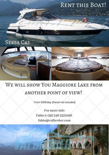 Sessa Marine C42 Rent this boat! We will bring You around on lake Maggiore!