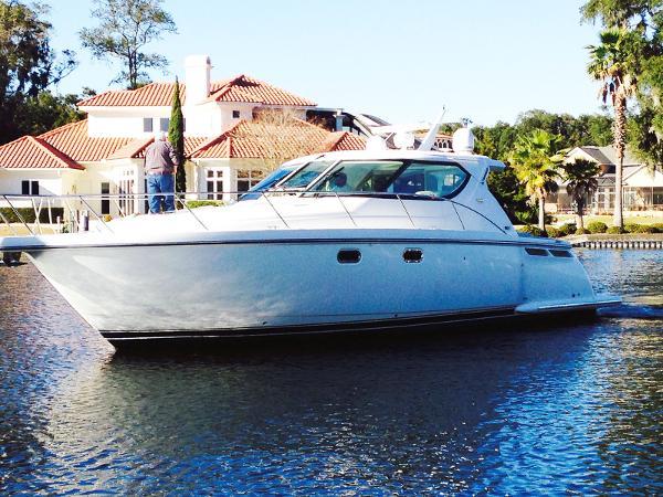 Tiara Yachts Sovran Port Side Profile