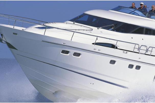 Fairline Squadron 74 Manufacturer Provided Image: Bow Detail