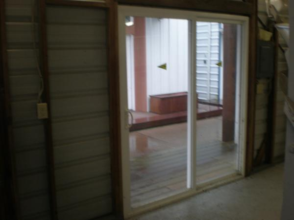 Newer slider door entry