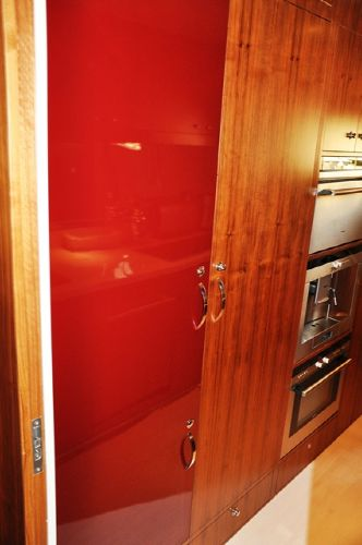 Red Refrigerator Door