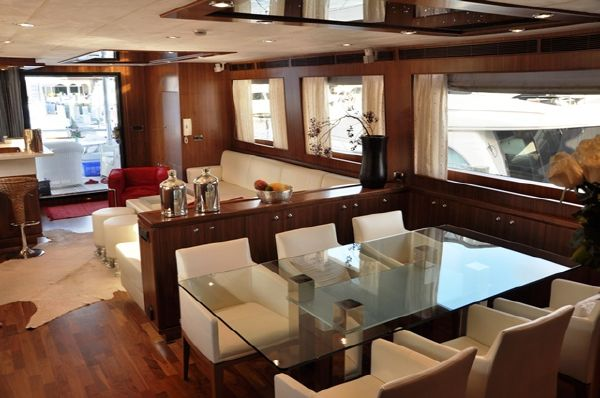 Dining and Salon Looking Aft