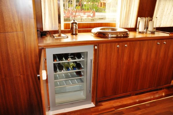 Wine Cooler - Starboard of Dining Room Table