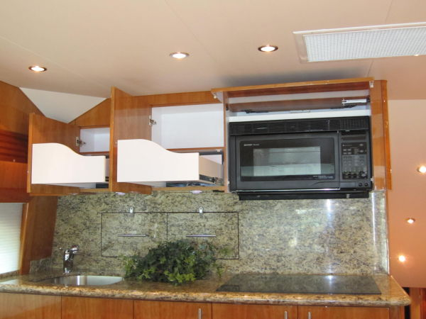 Galley Storage & Microwave