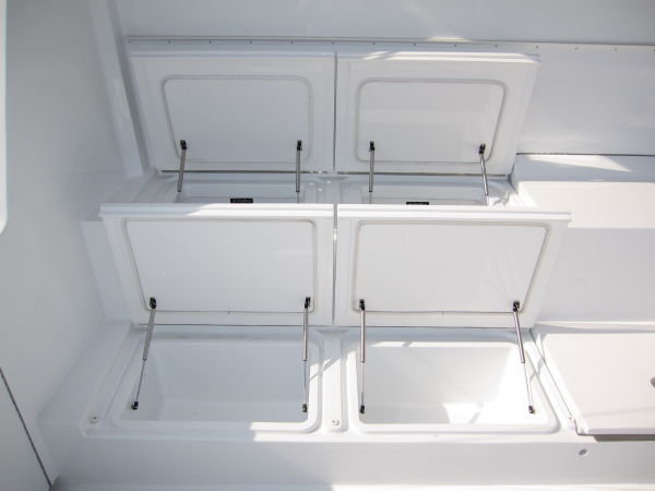 Cockpit Freezer and Storage Boxes