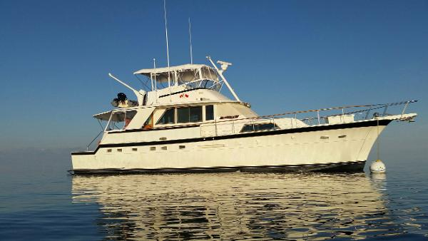 Hatteras 58 Yacht Fisherman Starboard side view