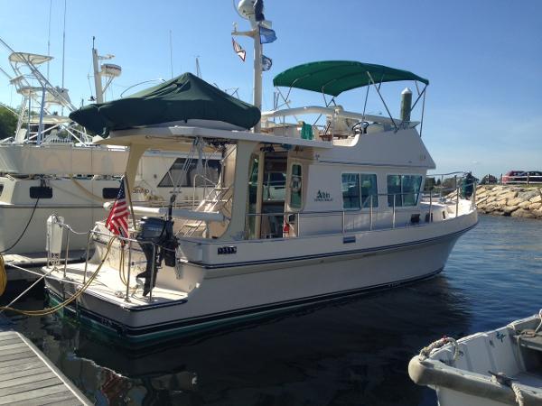 "Albin 36 Express Trawler & 10.5' Zodiac inflatable w/ 8hp Tohatsu 4 stroke OB ""SANDY LEE"" Dockside"