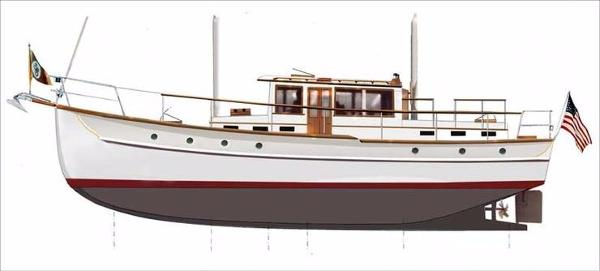 Palmer Johnson William Hand Motorsailer Rendering