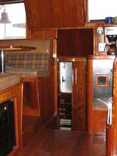 Pilothouse looking aft toward galley