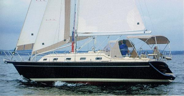 Island Packet 370 Actual Boat in Sailing Magazine Boat Test