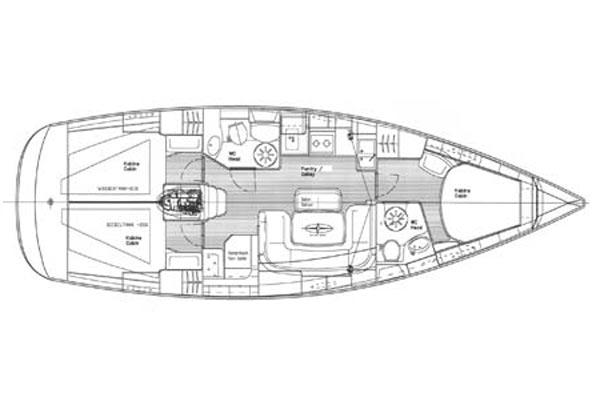 Bavaria 39 Cruiser Manufacturer Provided Image: Interior Plan
