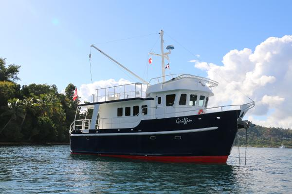 Custom Trawler At Anchor