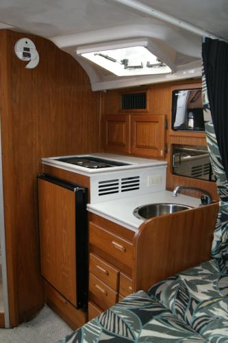 Luhrs Tournament 320 Open Galley Looking Aft