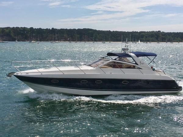 Princess V42 Underway in Poole Harbour