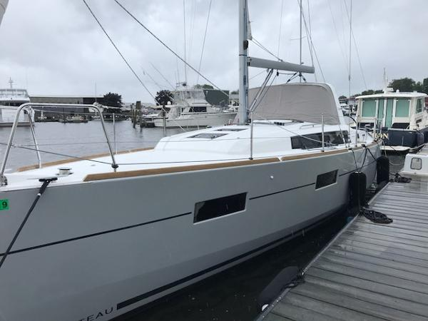 Beneteau Oceanis 38 Port Side of Eagle at the Dock