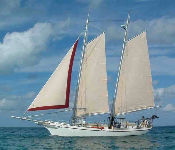 """Kasten-Bos & Carr Steel Schooner """"Jennie"""" under sail"""