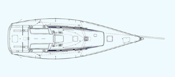 Nautor's Swan CS42 Deck Plan