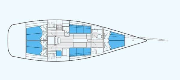 Nautor's Swan CS42 Interior Layout