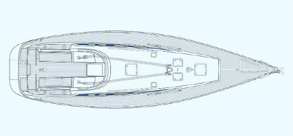 Nautor's Swan 53 Deck Plan