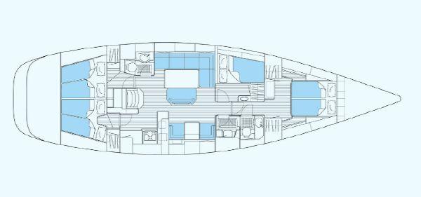 Nautor's Swan 53 Interior Plan