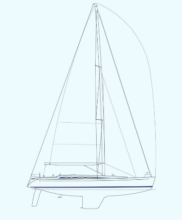 Nautor's Swan 53 Sail Plan