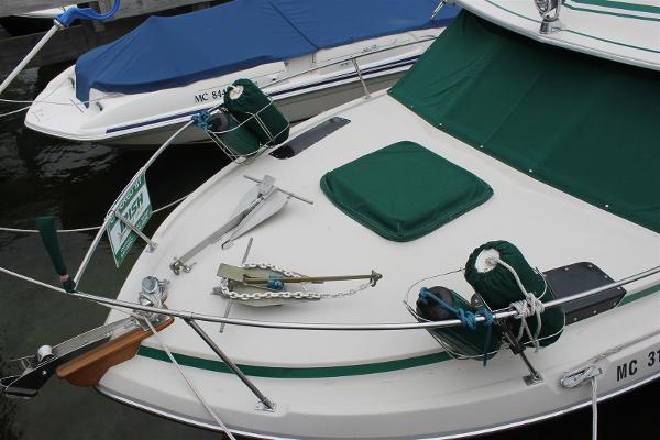 Foredeck, Anchors, Anchor Davit and Fender Holders