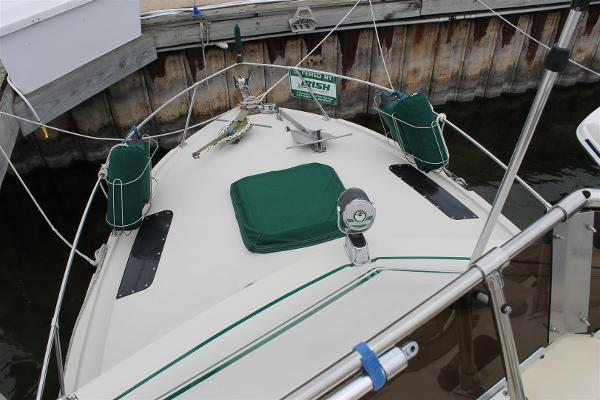 Foredeck from Flybridge