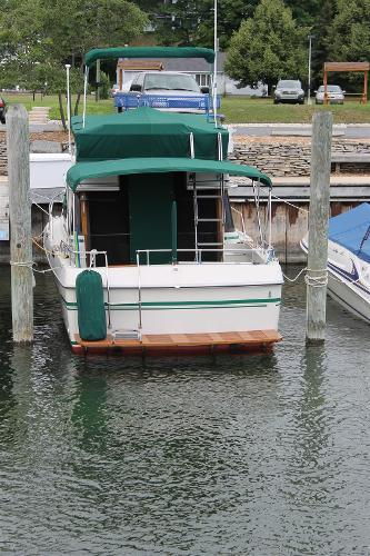 Shot of Transom and Swim Platform