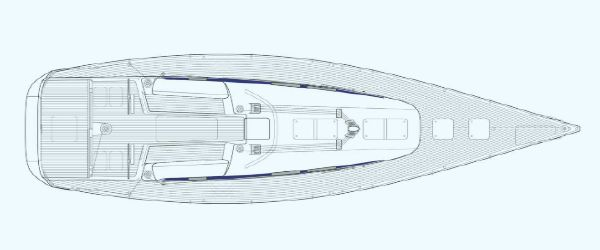 Manufacturer Provided Image: Nautor Swan 60 Deck Plan Closed