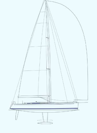 Manufacturer Provided Image: Nautor Swan 60 Sail Plan