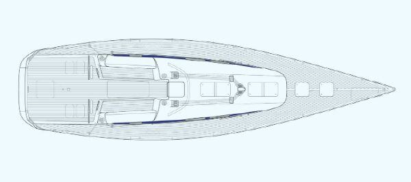 Manufacturer Provided Image: Nautor Swan 60 Deck Plan Open
