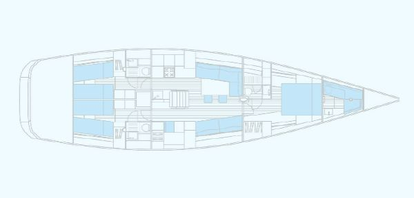 Manufacturer Provided Image: Nautor Swan 60 Interior Plan Option