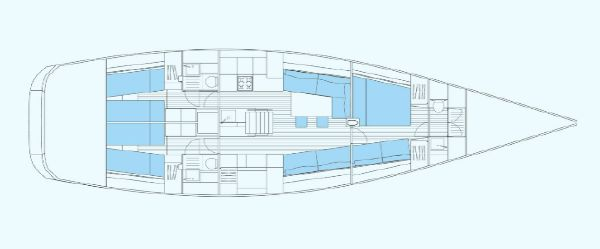Nautor Swan 60 Interior Plan